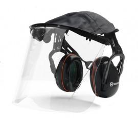 Ochronniki słuchu z osłoną twarzy z plexi
