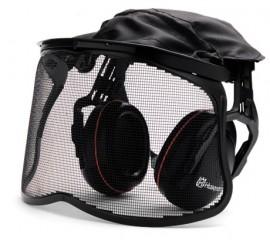Ochronniki słuchu z siatkową osłoną twarzy